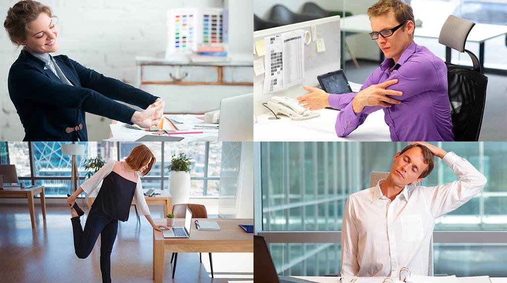 10 ejercicios que puedes hacer desde el trabajo para mejorar la circulación